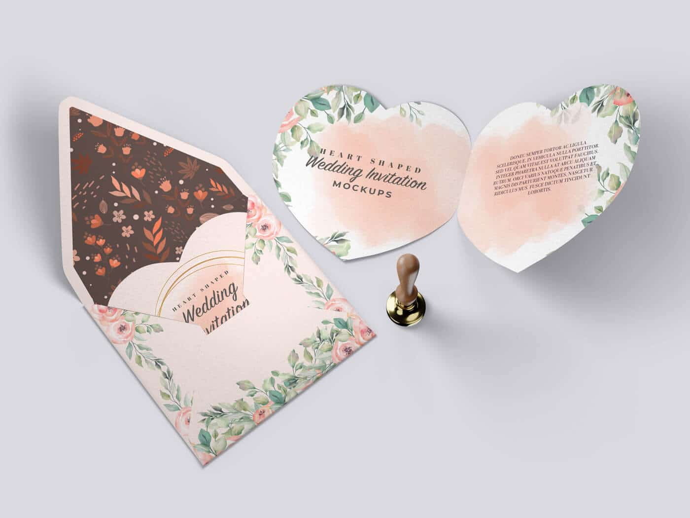 Heart Shaped Invitation Mockup 02