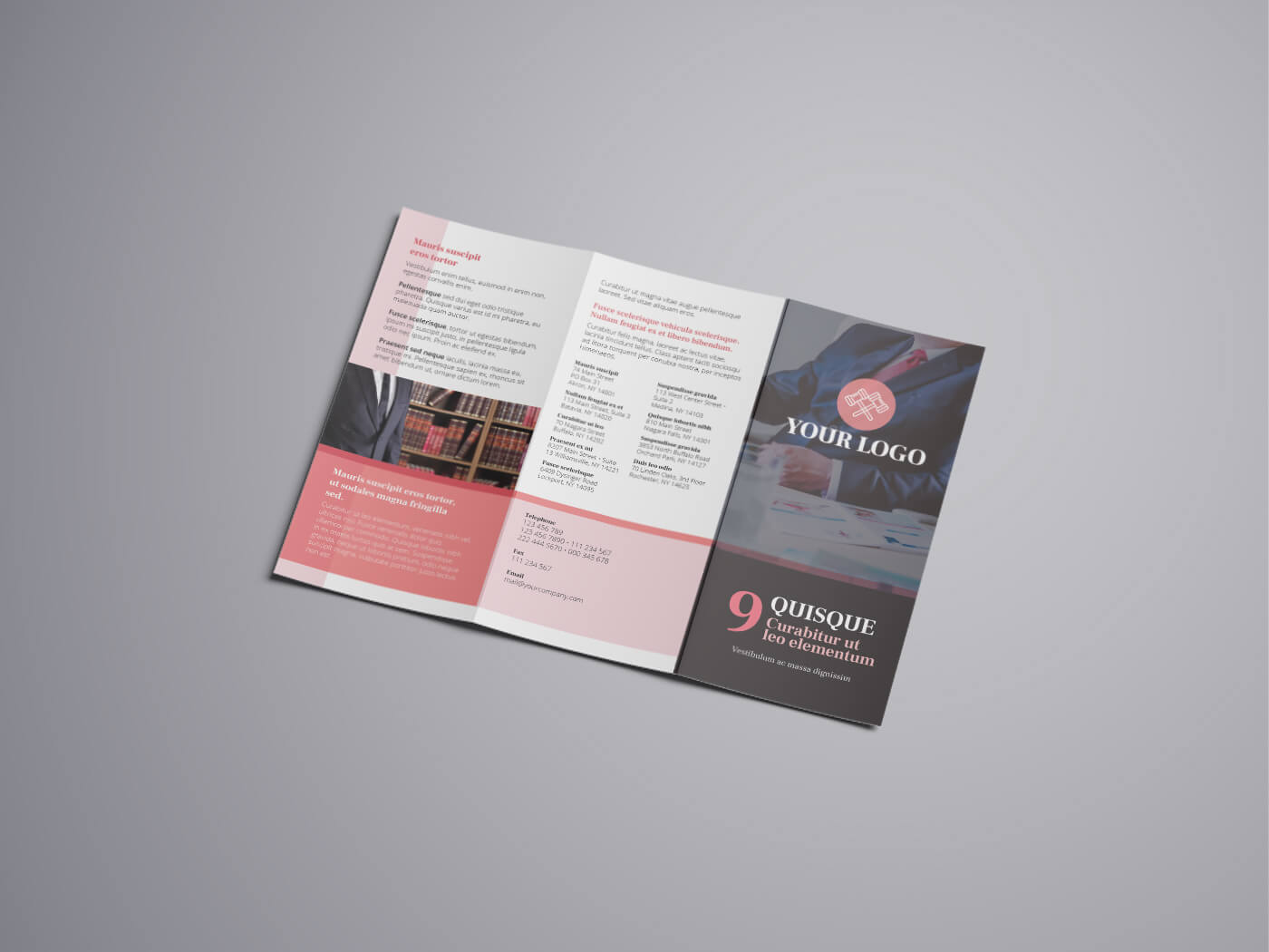 Attorney Law Tri fold Brochure Template 04