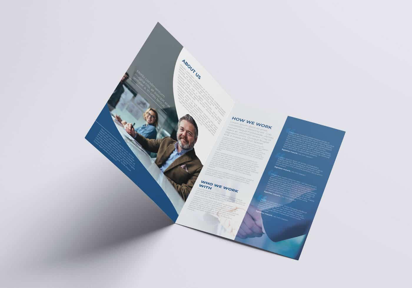 Half Fold Business Flyer Template 02