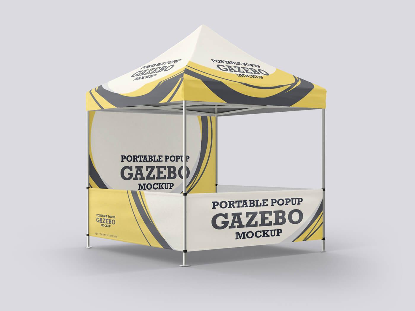 Portable Pop Up Gazebo Mockup