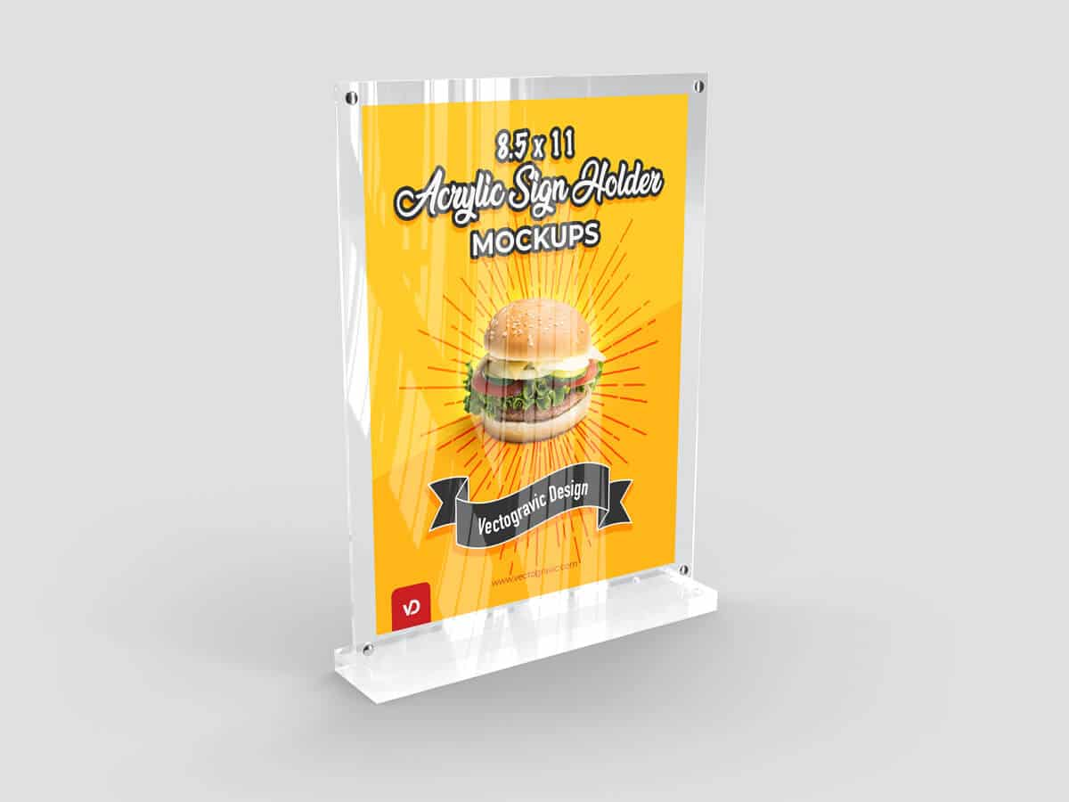 8.5 x 11 Acrylic Sign Holder Mockups 01