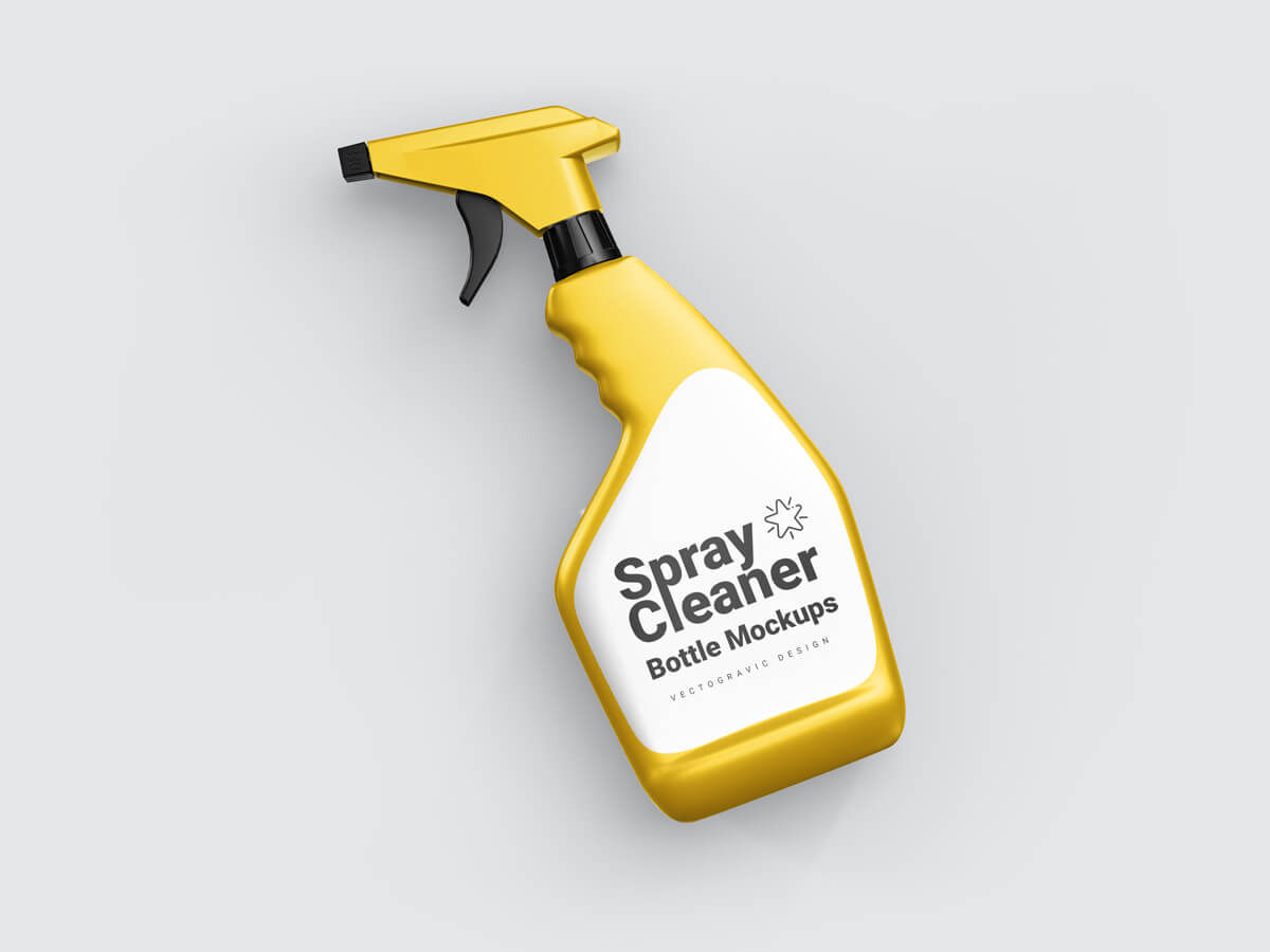 Spray Cleaner Bottle Free Mockups 02