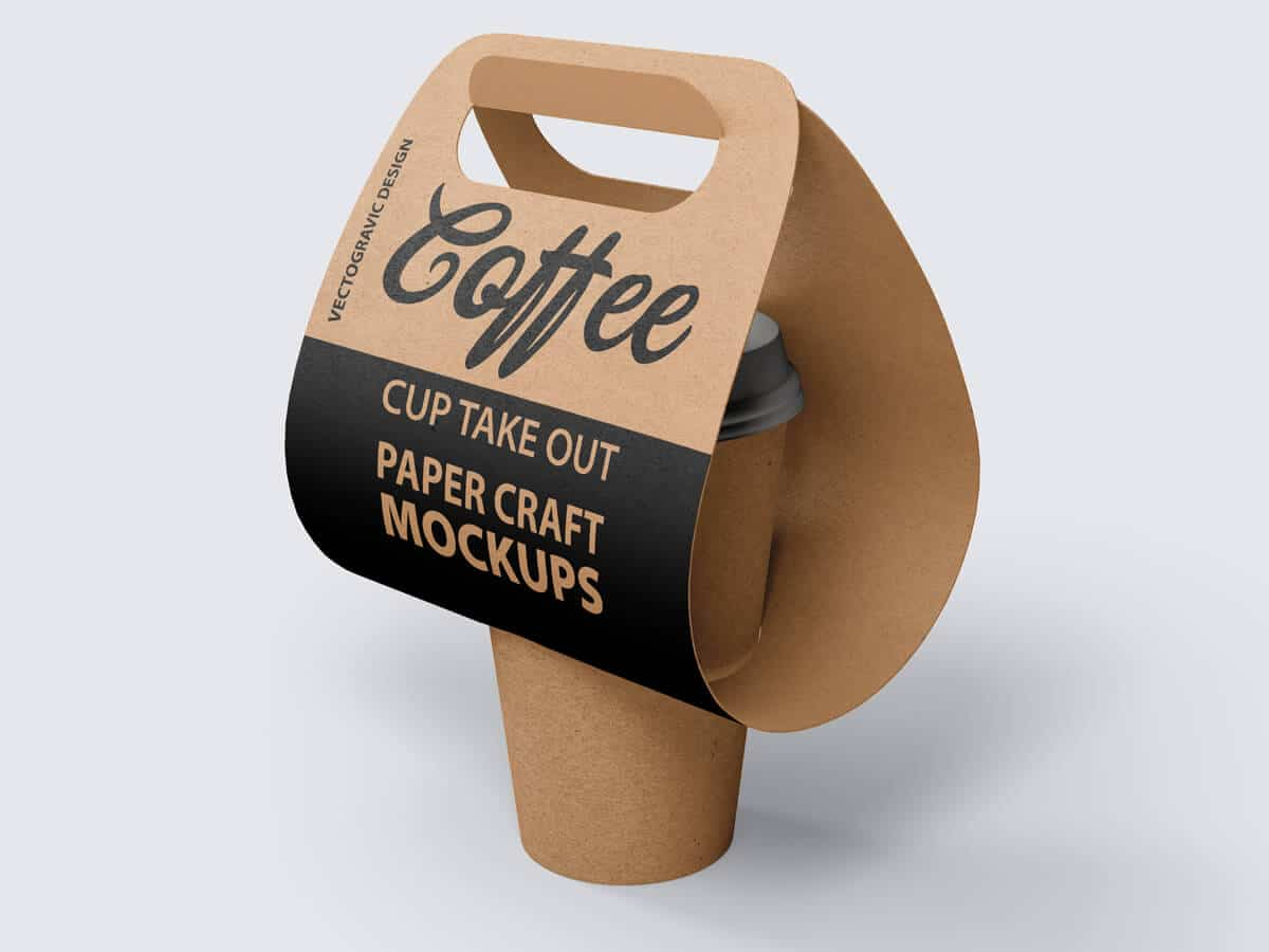 Coffee Cup Take Out Paper Craft Mockups 01