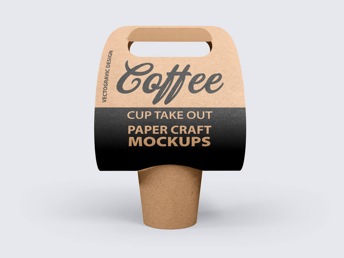 Coffee Cup Take Out Paper Craft Mockups 02