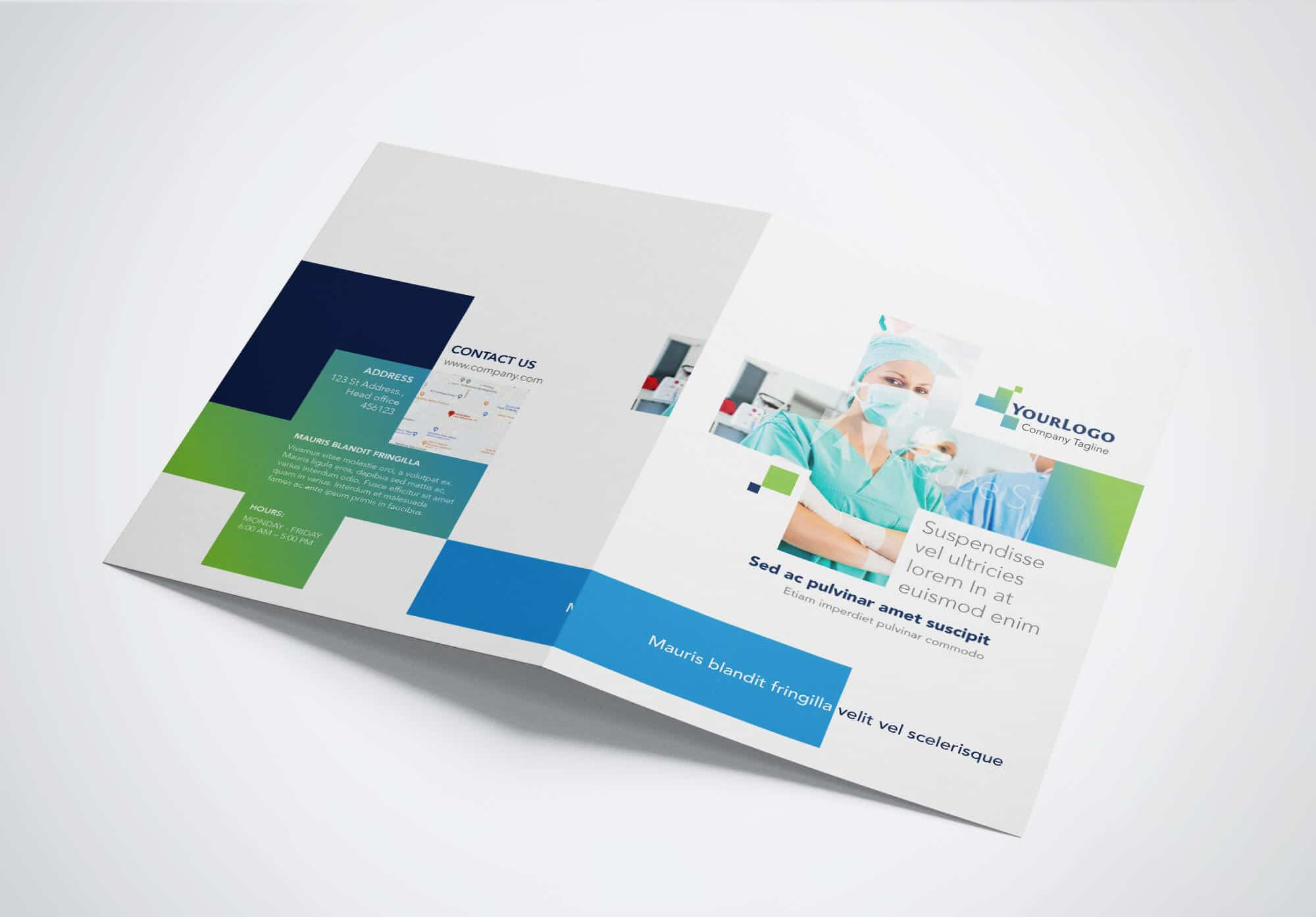 Half Fold Surgical Brochure Template 02