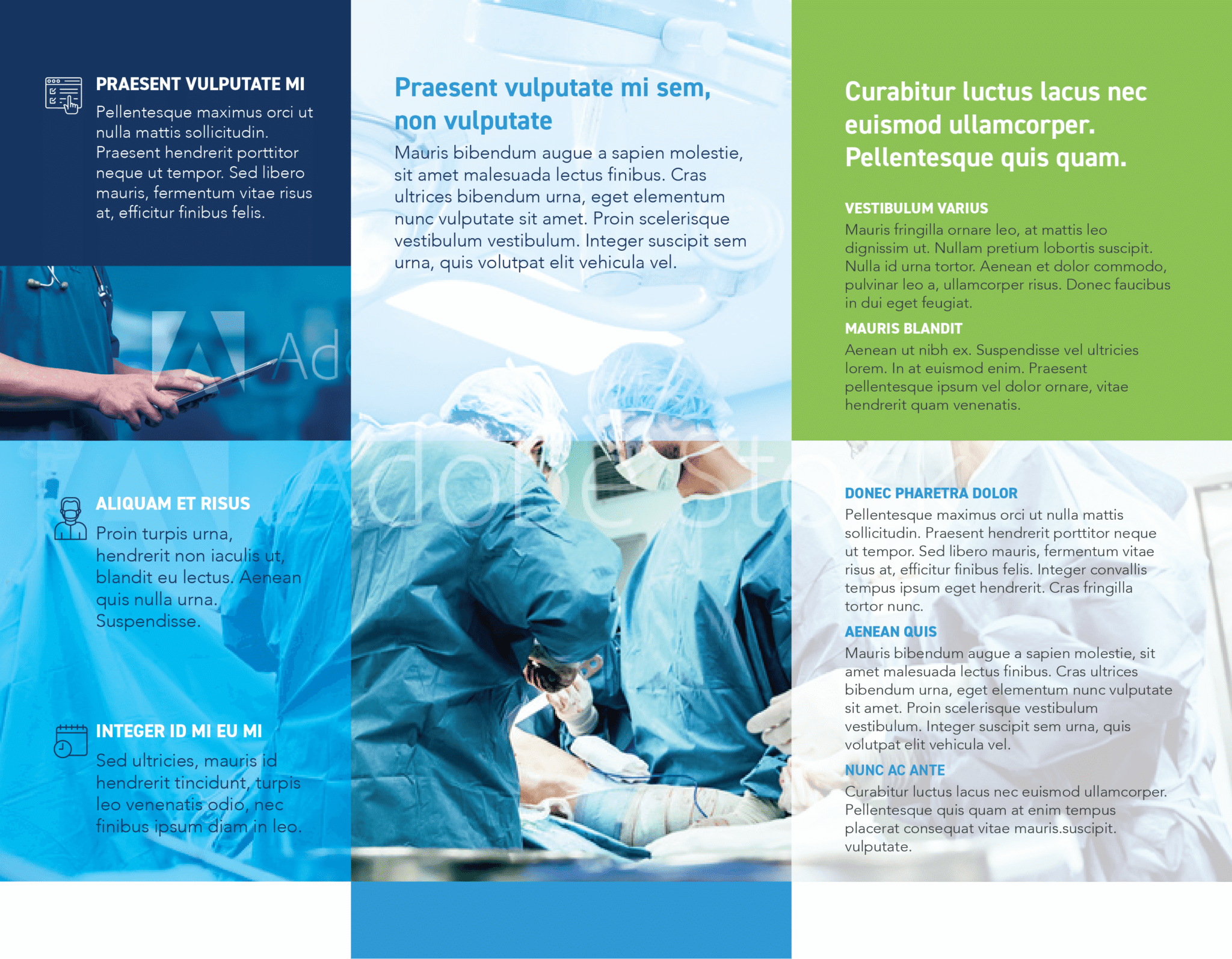 Half Fold Surgical Brochure Template Inside